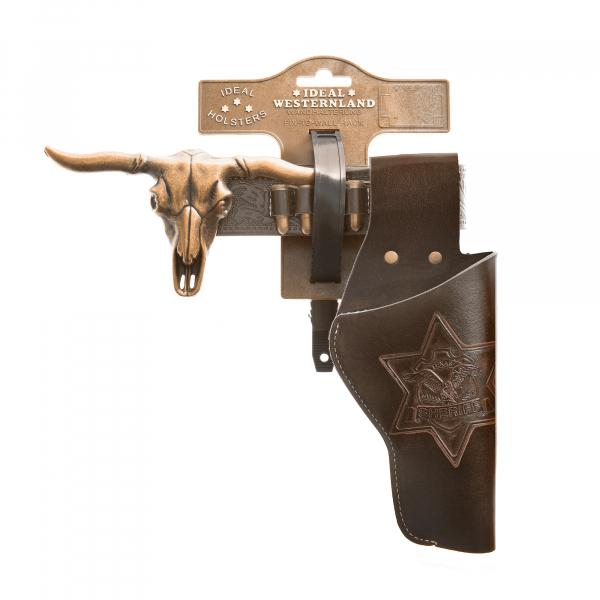 "Lederimitatgürtel ""Longhorn"" 85-120cm, 1 Tasche, Tester"