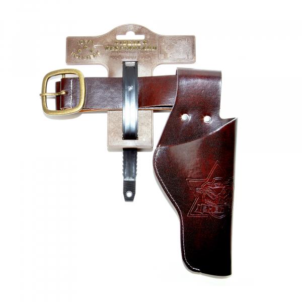 "Lederimitatgürtel ""Duell"", 55-90cm, 1 Tasche, Tester"