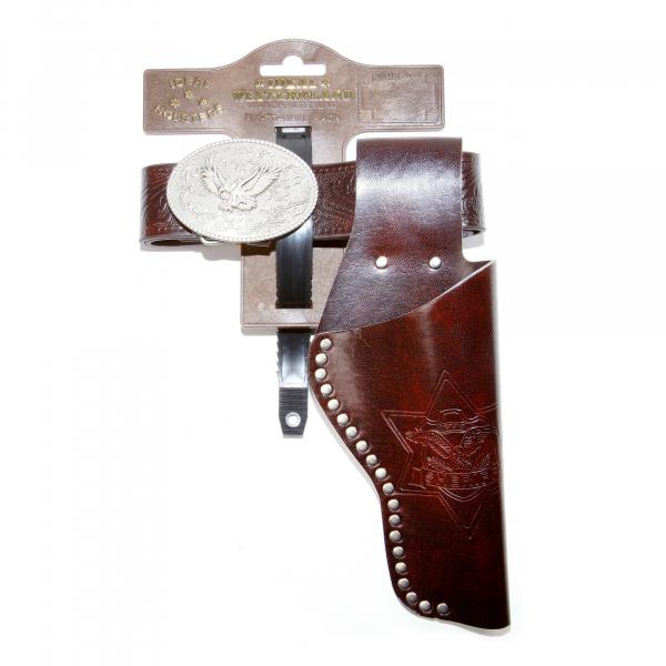 """Leatherimitation belt """"Eagle"""" with rivets, 95-135cm, 1 bag, tester"""