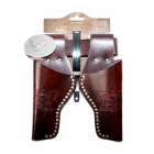 "Leatherimitation belt ""Eagle"" with rivets, 95-135cm, 2 bags, tester"