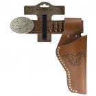 "Belt ""Eagle bright"" with rivets, 95-135cm, 1 holster, tester"
