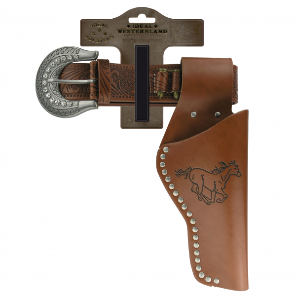 """Belt """"Lady 2"""" with rivets, 62-105cm, 1 holster, tester"""