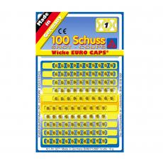 Single shot caps, 100 shots, blistercard