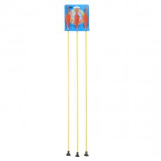 3x Fibreglass arrow with suction cup on card, 75cm